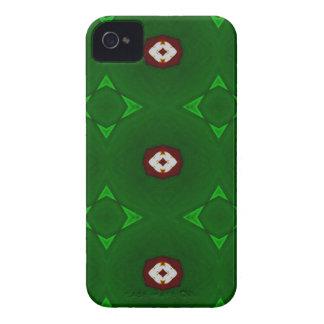 Formas blancas rojas en modelo verde del navidad carcasa para iPhone 4