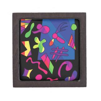 Formas coloridas caja de regalo