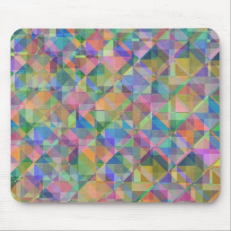 Formas coloridas frescas de los cuadrados de los t alfombrilla de ratón