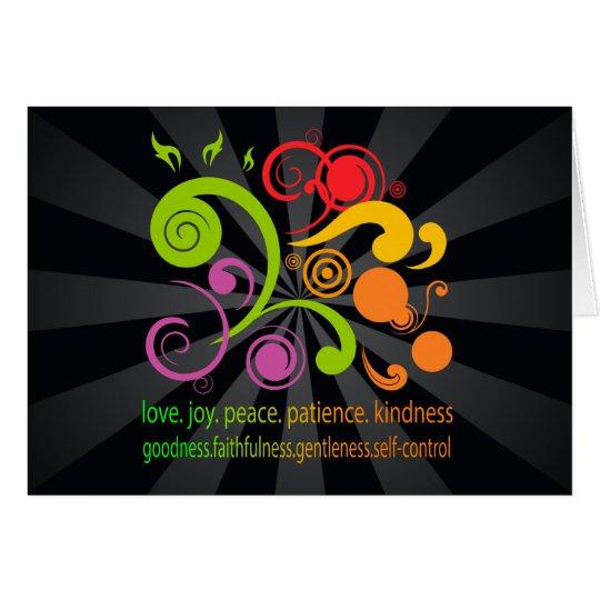 Formas coloridas, fruta del alcohol tarjeta de felicitación