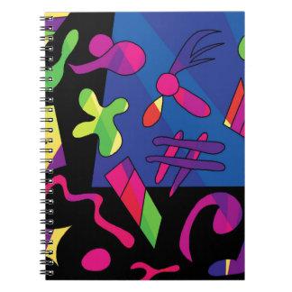 Formas coloridas libros de apuntes