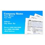 Formas de impuesto federal tarjeta de visita