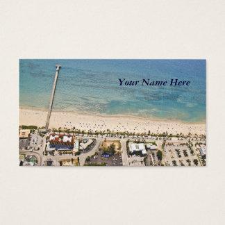 Formas de relieve aéreas tarjeta de visita