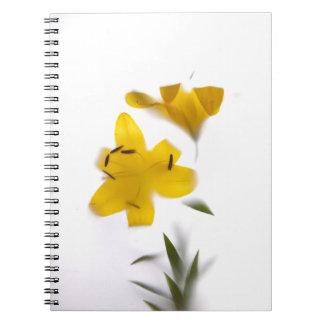 Formas de sombra flores bloc de notas cuaderno
