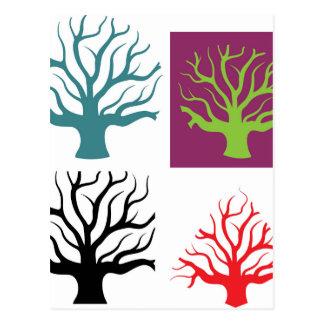 Formas del concepto cuatro del árbol postal