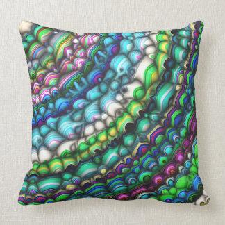 Formas espectrales curvadas cojín decorativo