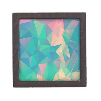 Formas geométricas abstractas coloridas de las caja de regalo