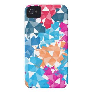 Formas geométricas coloridas 3D Carcasa Para iPhone 4 De Case-Mate