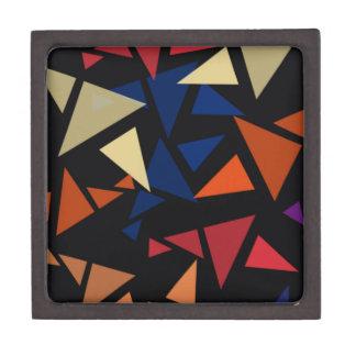 Formas geométricas coloridas caja de regalo