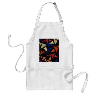 Formas geométricas coloridas delantal