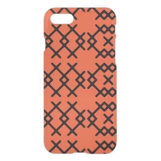 Formas geométricas del nómada anaranjado tribal de funda para iPhone 7