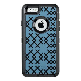 Formas geométricas del nómada azul tribal de funda OtterBox defender para iPhone 6
