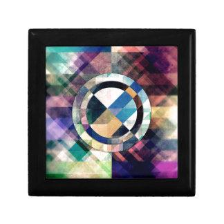 Formas geométricas texturizadas caja de regalo
