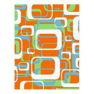 Formas suaves retras frescas del naranja y del postal