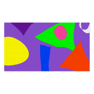 Formas violetas tarjetas de visita