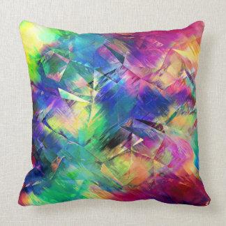 Formas y texturas coloridas abstractas cojín decorativo