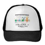 Fórmula de la fotosíntesis (sustancia química) gorra