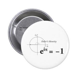 Fórmula de la matemáticas de la identidad de Euler Chapa Redonda 5 Cm