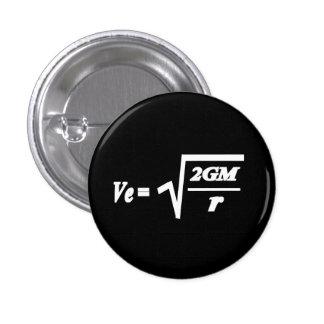 Fórmula de la velocidad de escape chapa redonda de 2,5 cm