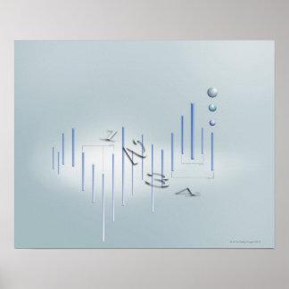 Fórmula, gráfico, símbolos 11 de la matemáticas póster
