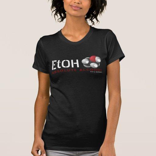 Fórmula molecular C2H6O del etanol del alcohol abs Camiseta