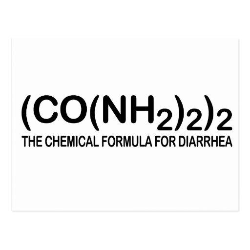Fórmula química divertida para la postal de la dia
