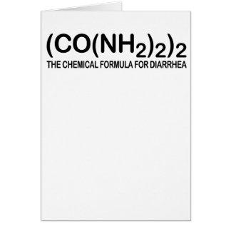 Fórmula química divertida para la tarjeta de