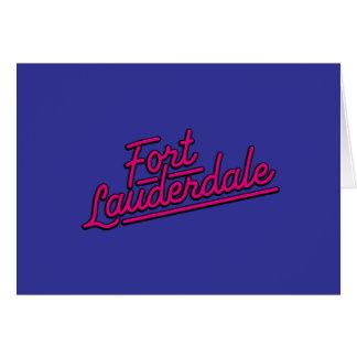 Fort Lauderdale magenta Felicitacion