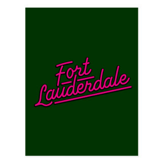 Fort Lauderdale magenta Postales