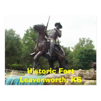 Fort Leavenworth histórico, soldado lunes del Postal