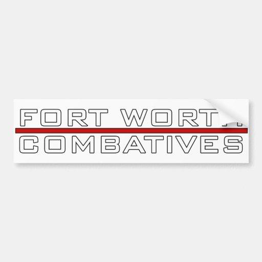 Fort Worth Combatives resalta el logotipo Pegatina De Parachoque