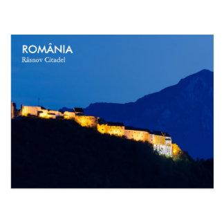 Fortaleza de Rasnov en Rumania Poscard Postal