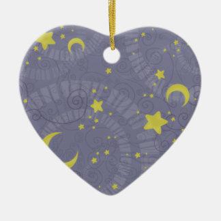 Fortuna estrellada adorno de cerámica en forma de corazón