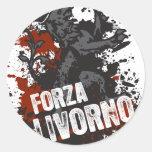 Forza Livorno Pegatina Redonda
