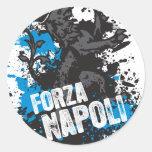 Forza Napoli Pegatina Redonda