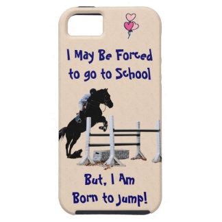 Forzado para ir a la escuela, llevada para saltar iPhone 5 Case-Mate cobertura