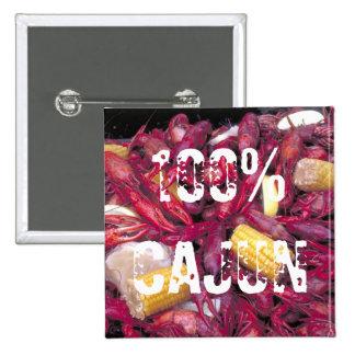 Foto 100% de los cangrejos del botón de Cajun Pins
