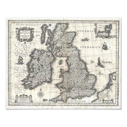 Foto 1631 Map of the British Isles by Joan Blaeu