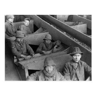 Foto 1884 del vintage del minero de la colina de E Tarjeta Postal