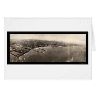 Foto 1906 del panorama de Santa Cruz CA Felicitación
