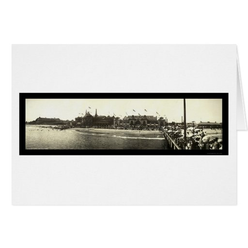 Foto 1908 de la playa de Santa Cruz CA Tarjeta