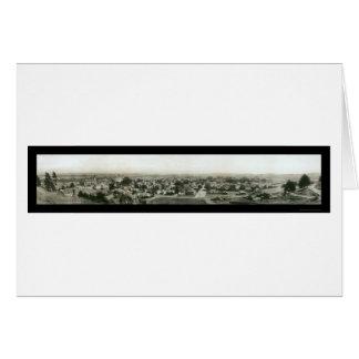 Foto 1909 del horizonte de Santa Cruz CA Felicitacion