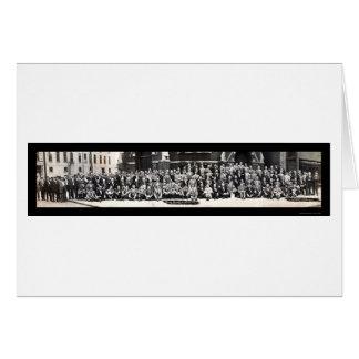 Foto 1910 de los distribuidores autorizados del tarjeta de felicitación