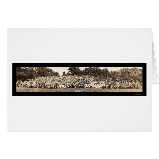 Foto 1923 de la reunión de familia de Pershing Felicitaciones