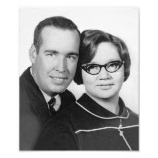 Foto 1967 del compromiso de la hierba y de Sue