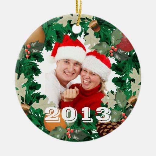 Foto 2013 de la guirnalda del navidad ornamentos de reyes magos