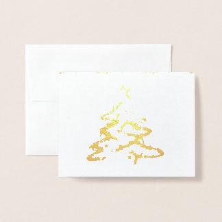 Foto adaptable del efecto metalizado de oro de la tarjeta con relieve metalizado