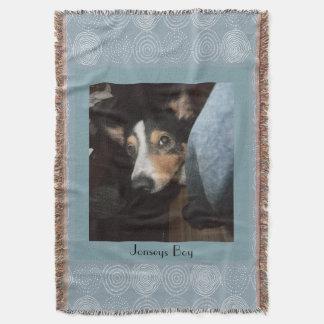 Foto adaptable del mascota del perro manta tejida