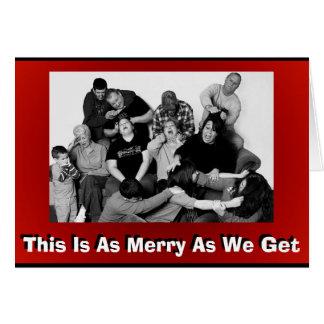 Foto adaptable divertida del navidad de la familia tarjeta de felicitación
