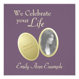 Foto adaptable: Estela/(viviendo) entierro Invitacion Personal